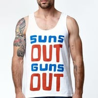 Wellen Suns Out Guns Out Tank Top - Mens Tee - White