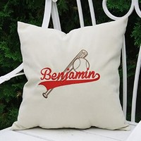 Personalized Pillow Covers Baseball Custom Pillowcase Boy Name Initial Decorative Monogram Pillow Cover Home Decor Throw Pillows Gift V17