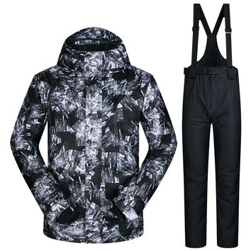 Ski and snowboarding winter gear warm and weather proof overalls Mens Jacket
