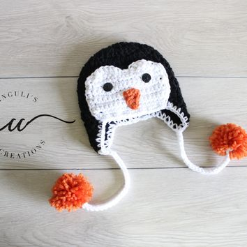 Penguin Baby Crochet Hat