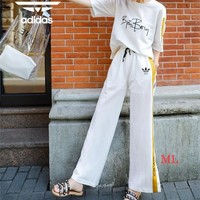 """Adidas"" Women Simple Casual Multicolor Middle Sleeve Trousers Set Two-Piece Sportswear"
