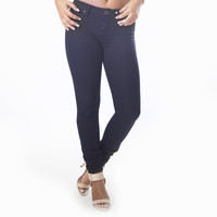 Classic Skinny Pants In Navy Blue