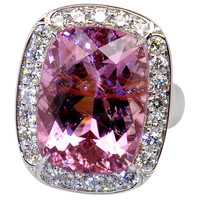 "18.11 carat purplish pink Tourmaline ""Princess"" Ring"