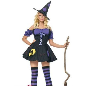 DCCK0OQ Halloween Witch Costume [8978980679]