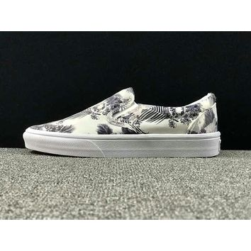 Summer Newest Vans Floral Pattern Slip on Sneaker Casual Shoes