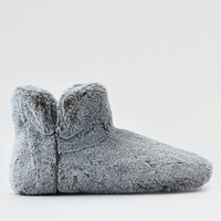 AEO Fur Slipper Bootie , Gray