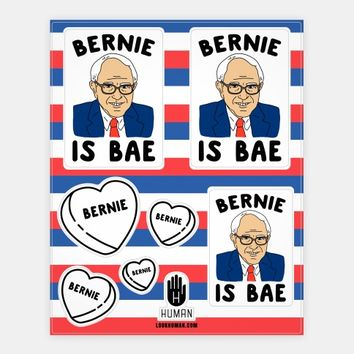 Bernie Is Bae Stickers