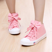 PINK BOW CANVAS SHOES