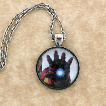 Marvels Iron Man Hand Laser Pendant Necklace ,Fan Jewelry, Great Gift