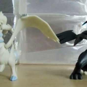 Genuine POKEMON movable Black and White baby doll toy Zekrom and Reshiram