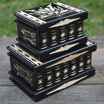 Hungarian puzzle box set Limited Edition jewelry box brain teaser treasure box treasure chest accessories keepsake box personalized gift