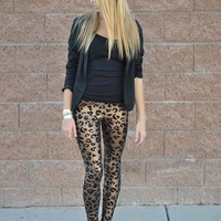 LEOPARD LEGGINGS - ALMOST GONE! from COMOSTREET