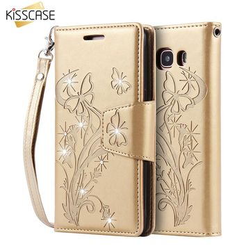 Bling Diamond Leather Case Cover For Samsung Galaxy Wallet