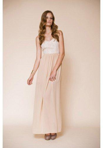 KEEPSAKE 1 ONLY Forever Dreaming Dress SAND/IVORY LACE #12