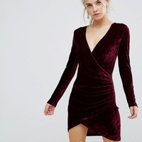 Parisian Petite Velvet Dress at asos.com