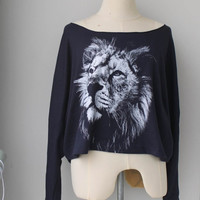 The Lion  Pullover Long sleeve Animal Print Bat Style by Tshirt99