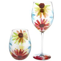 Colorful Daisy Drinkware