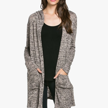 Cozy Sweater Hooded Cardigan Coco/Black