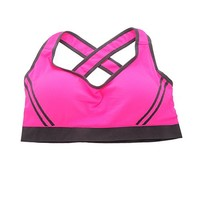 Jewelry_Awesome Womens Rose Comfort Wire-free Push-up Back Yoga Sport Bra