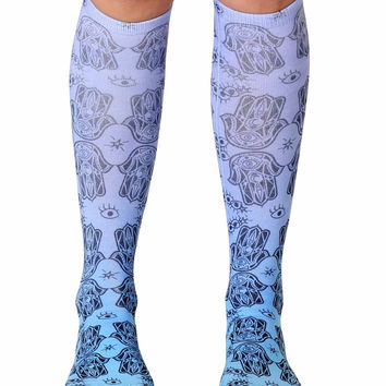 Hamsa Knee High Socks