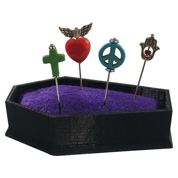 Voodoo Pins Heart Skull Angel Cross Needles