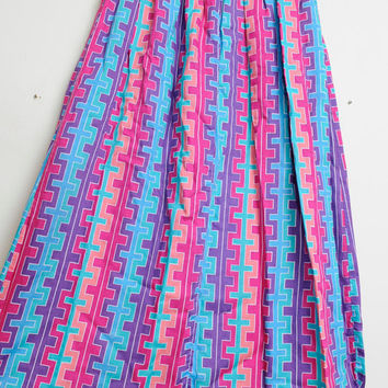 Vintage 80s/90s Aztec Tribal Colorful Boho Hipsta Skirt