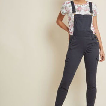 Offbeat Beauty Skinny Overalls