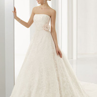 2016 Ball Gown Beading Strapless Chapel Train White Wedding Dresses [WD-221] - AUD $252.05 :