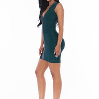 Rae Bandage Dress- Teal