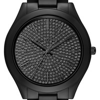 Michael Kors 'Slim Runway' Pavé Dial Ceramic Bracelet Watch, 42mm | Nordstrom