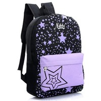 OSOPOLA L-3160 Canvas Leisure Star Pattern School College Backpack Outdoor Bags For Girls And Boys