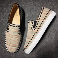 DCCK2 Cl Christian Louboutin Pik Boat Style #2298 Sneakers Fashion Shoes