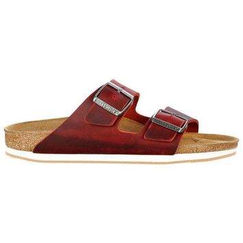 Birkenstock Beach Slippers Arizona Oiled Leather Rot Sandals