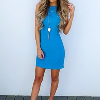 Go With The Bow Dress: Cerulean