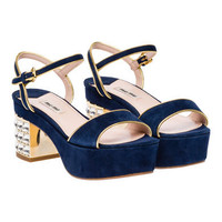 Miu Miu e-store · Shoes · Sandals · Sandals 5XP516_LVG_F0OQE_F_065