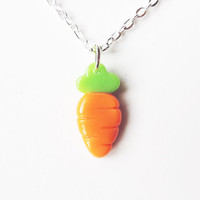 Simple Cute Carrot Charm Necklace