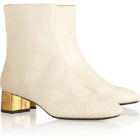 Marni | Textured-leather ankle boots | NET-A-PORTER.COM