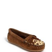 Girl's Minnetonka 'Kitty - Leopard' Moccasin,