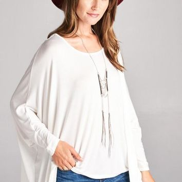 3/4 Sleeve  Loose Fit Top