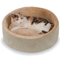 The Warming Cat Bed (Large) - Hammacher Schlemmer