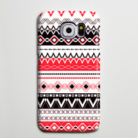 Ethnic Red Black White Tribal Phone Case Galaxy s6 Edge Plus Case Galaxy s6 Case Samsung Galaxy Note 5 Case s6-070