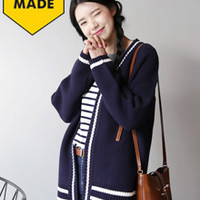 Knit Contrast Accent Cardigan