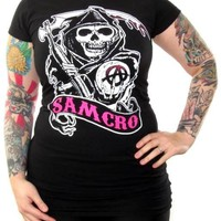 Sons Of Anarchy Girls T-Shirt - Samcro Pink