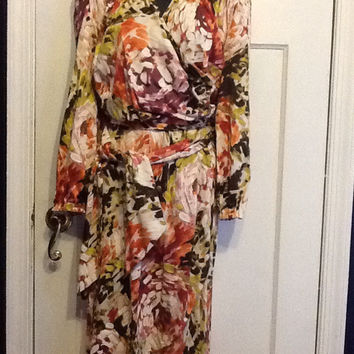 Escada Silk Faux Wrap Dress