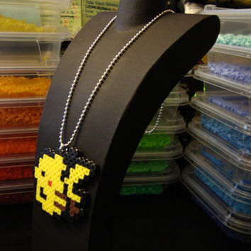 Pokemon Bead Sprite Necklace - Pokemon Yellow Pikachu