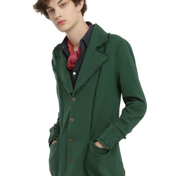 Disney Alice Through The Looking Glass Mad Hatter Guys Lined Green Jacket
