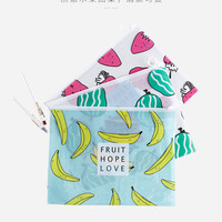 Buy Home Simply Fruit-Printed A4 Document Sleeve | YesStyle