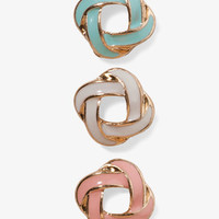 Lacquered Knot Stud Set | FOREVER 21 - 1027706316