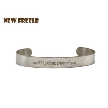 New&Classic TV The Handmaid's Tale Cuff Bracelet Nolite Te Bastardes Carborundorum Gender Traitor I intend to survive Jewelry