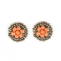 Handmade Earrings - Petal Stud Coral - Fair Trade Fashion | Mata Traders